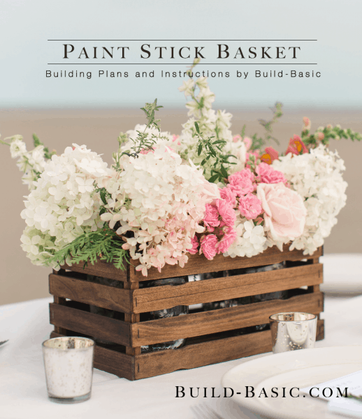 Paint Stick Basket