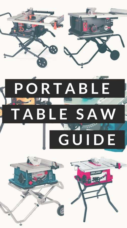 A buying guide for portable table saws. These are best for the DIYer, contractor, and beginning woodworker. #DIY #woodworking #tablesaw
