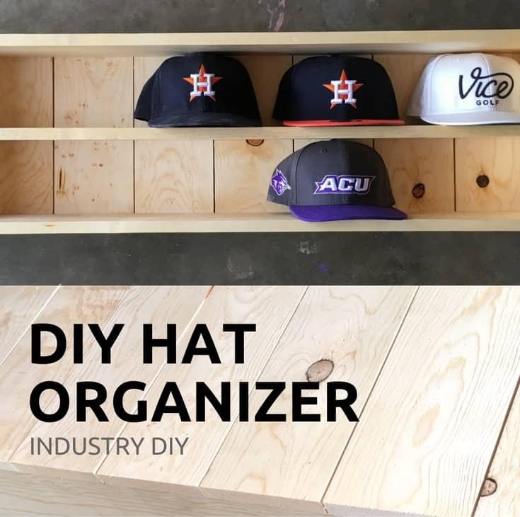 Baseball hat organizer beginner diy step by step plans for Diy hat organizer