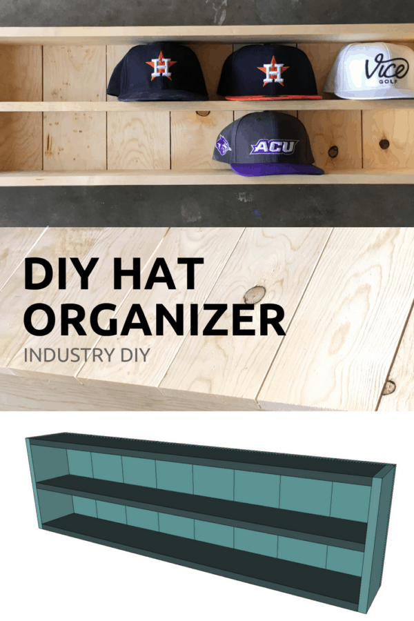 Build a baseball hat organizer with these DIY plans from Industry DIY