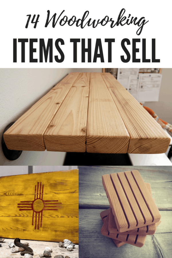 14 Woodworking Items that sell on Etsy and other handmade marketplaces.  These easy projects will get you started on your very own store.