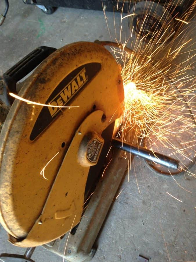 Chop Saw Cutting