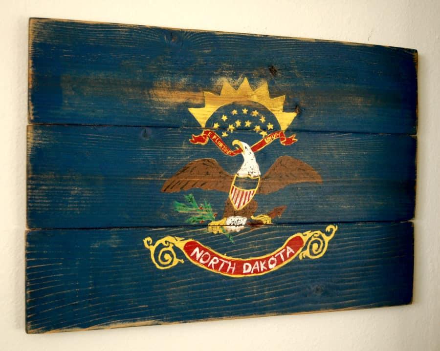 North Dakota Flag for Etsy