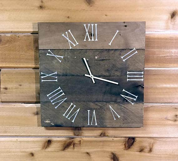 Wood Clock on Etsy