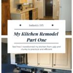 My Kitchen Remodel Part One
