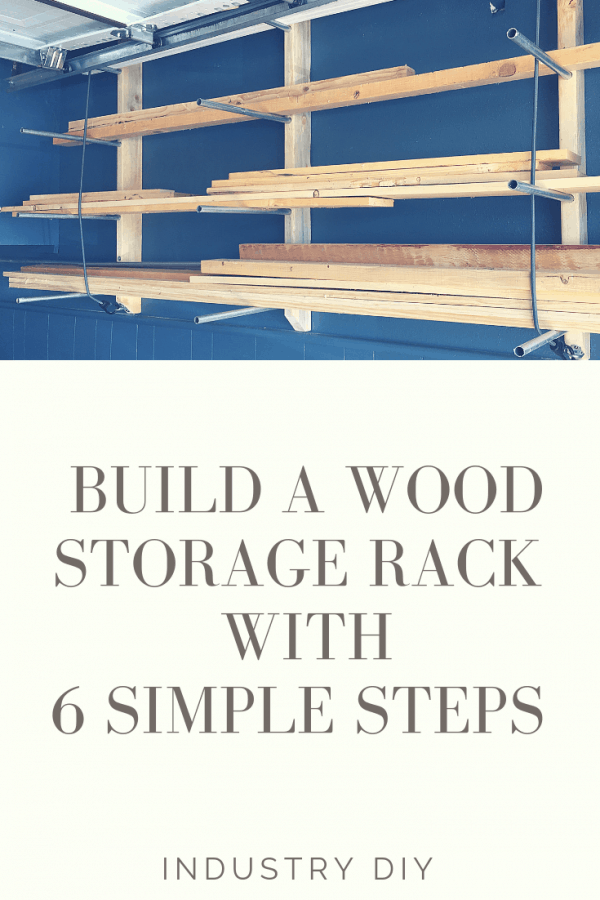 DIY Wood Storage Rack with Conduit (6 Easy Steps)