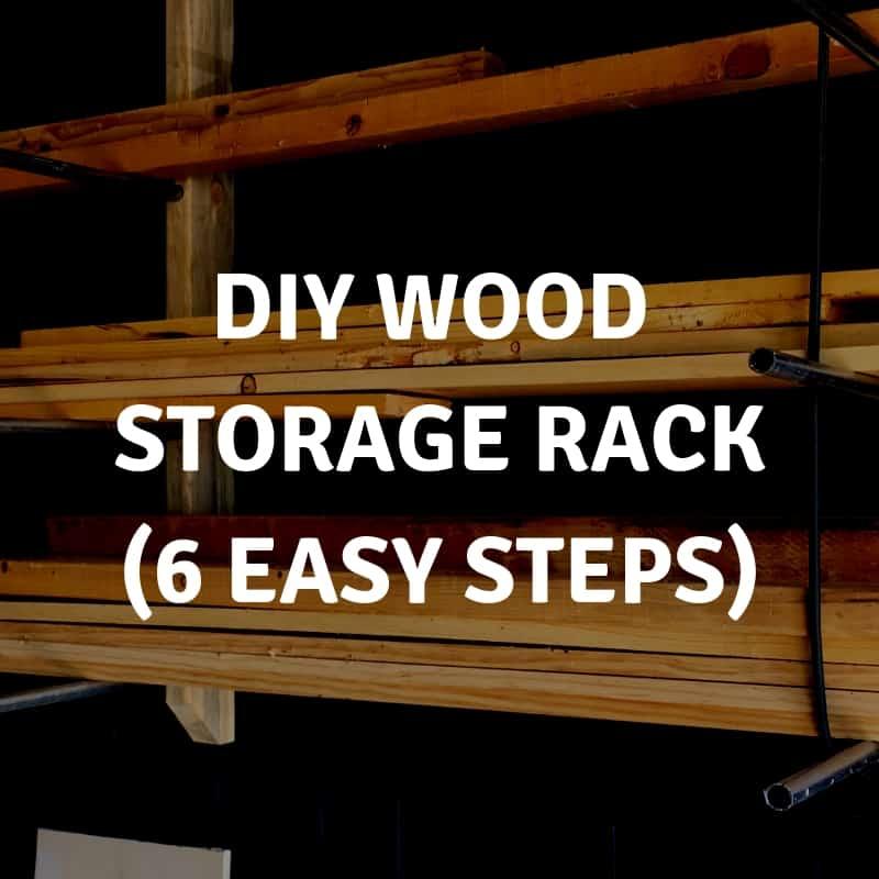 DIY Wood Storage Rack