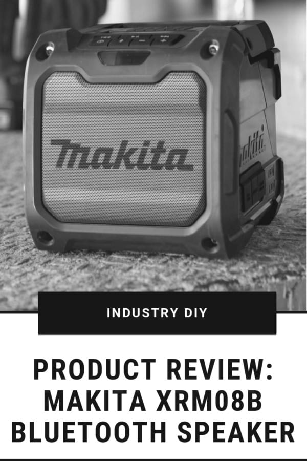This bluetooth speaker is great for the garage, jobsite, or the outdoors. Check out my review of the Makita XRM08B bluetooth Speaker.