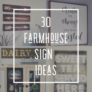 DIY Farmhouse Sign Ideas