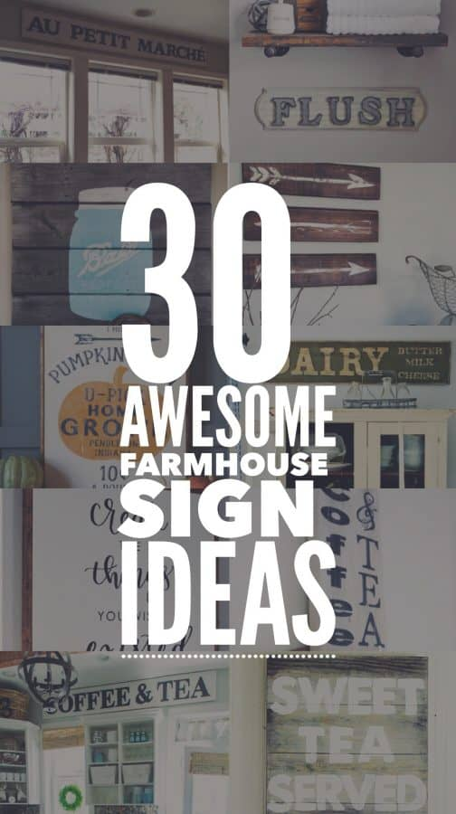 Create your own Farmhouse Sign with this amazing list of DIY signs. #DIY #Farmhouse