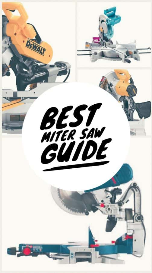 Find the best miter saw for your workshop. #DIY #Woodworking