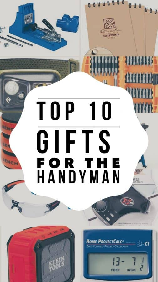 Buy the best tool gifts for your favorite handyman.  These are great gifts for birthdays, Christmas, or any other special occasion. #DIY #Christmas #Birthday