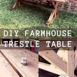 DIY Farmhouse Trestle Table
