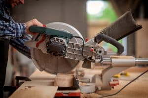 Miter Saw Cutting