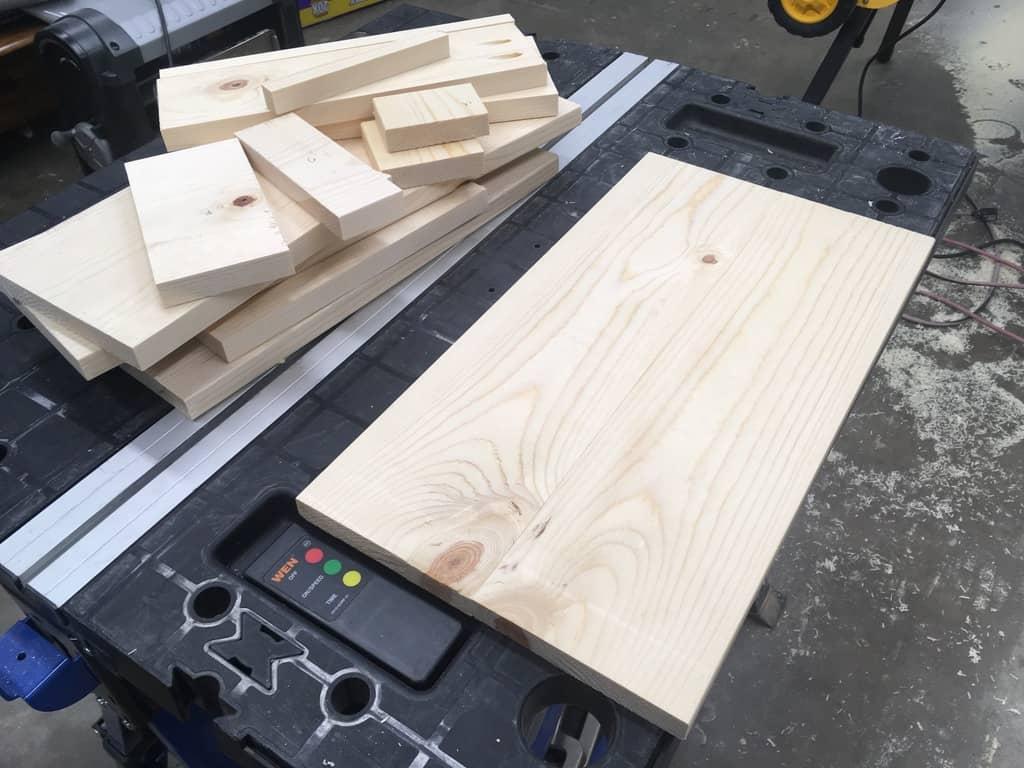 Cut Pieces for Desk Organizer