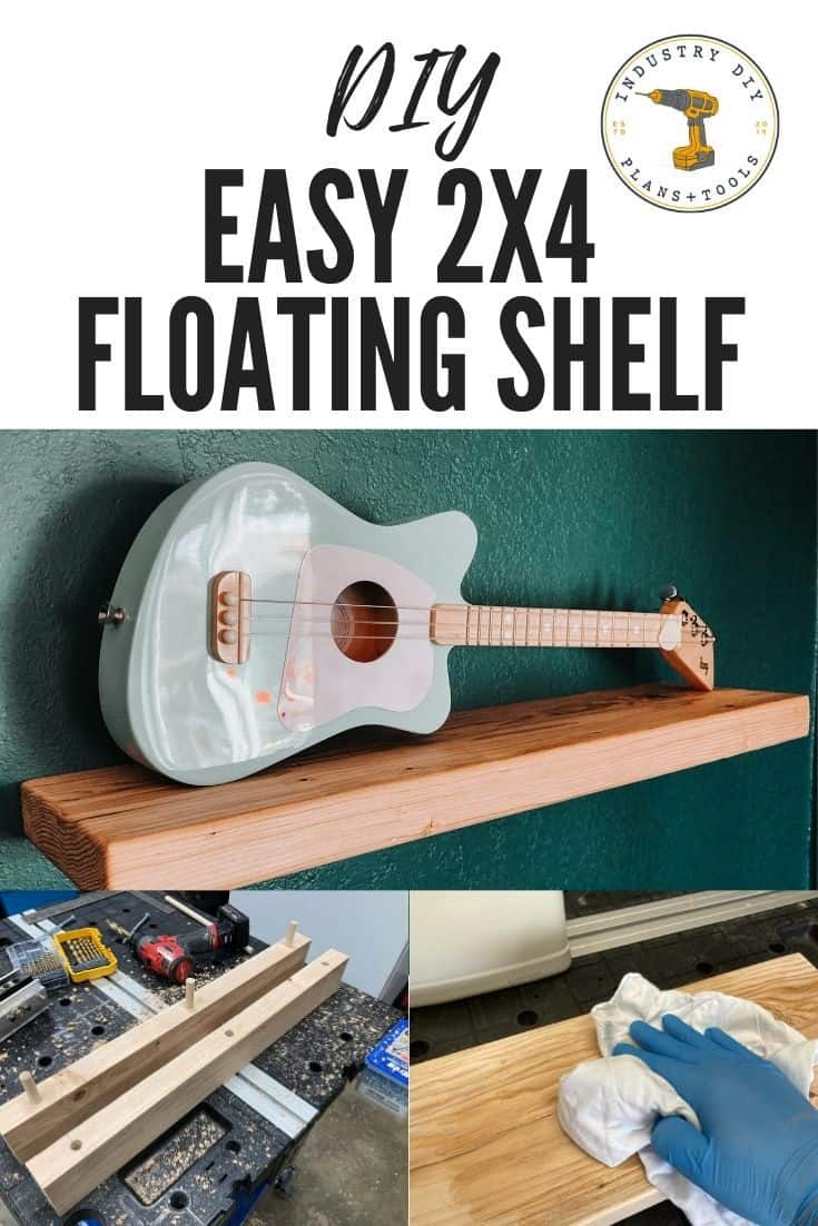 Easy 2x4 Floating Shelf DIY Project