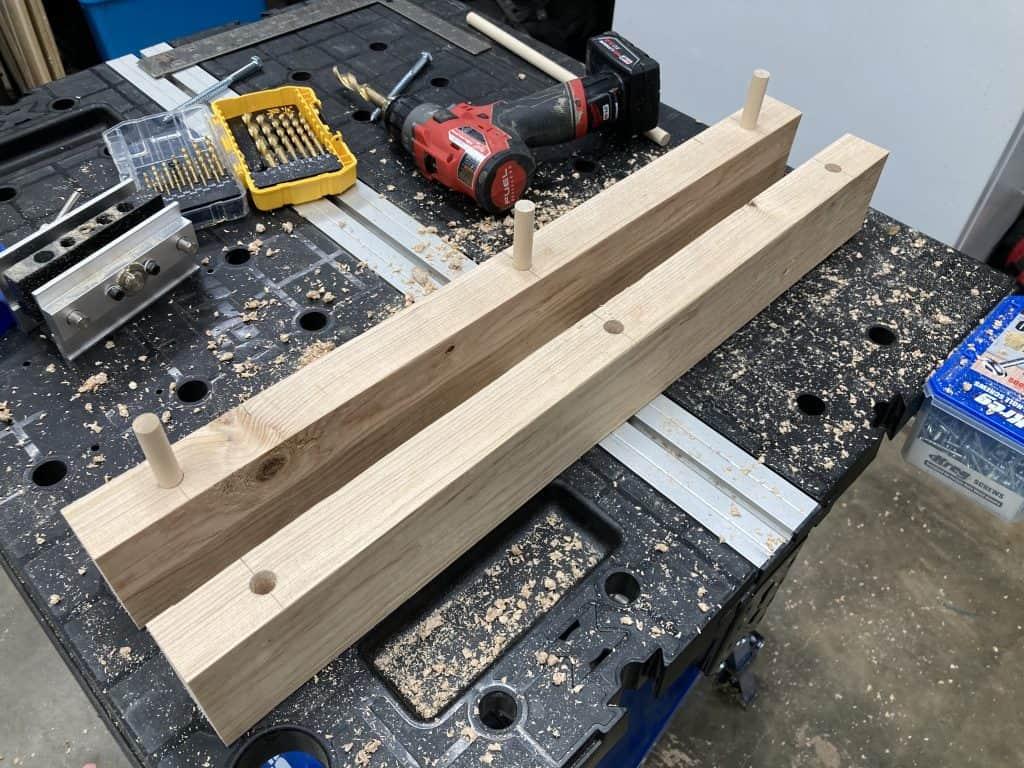 Testing dowel holes