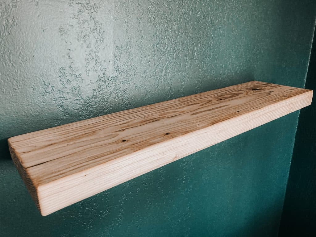 2x4 DIY Floating Shelf