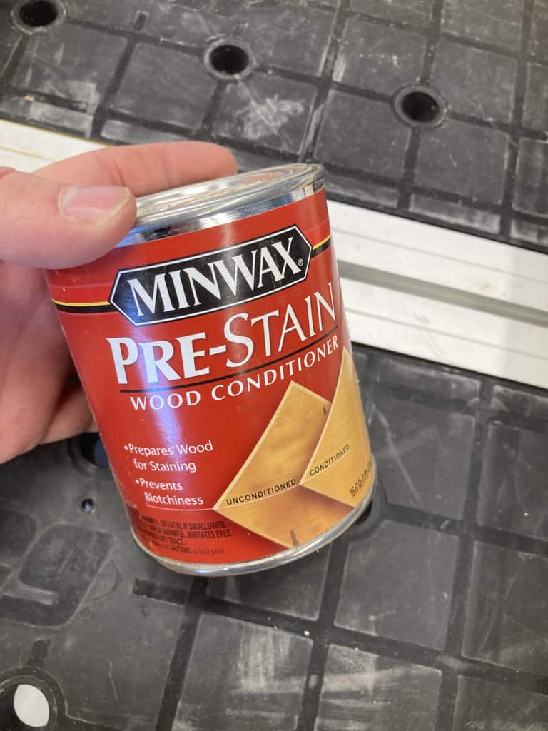 Using a pre stain wood conditioner to prevent blotching.
