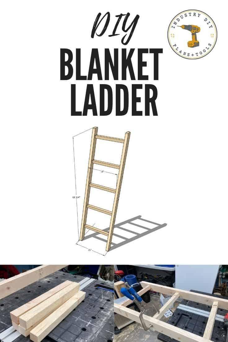 DIY Blanket Ladder 2x4 - Easy Project